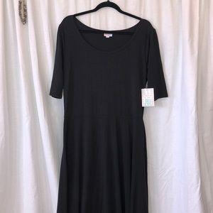 LLR Solid Black Anna dress